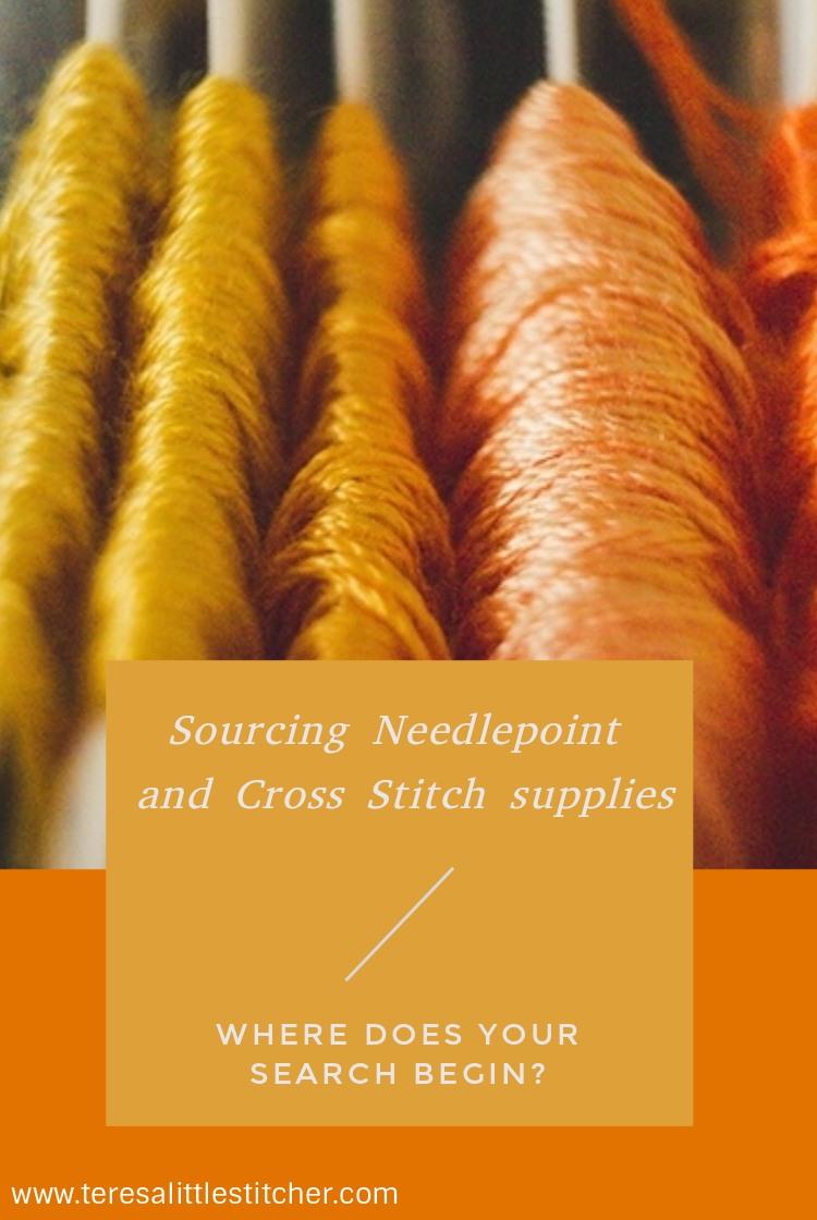 sourcing cross stitch supplies